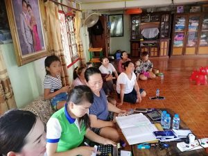 Training Financial Education to the clients at Thinthaen Village