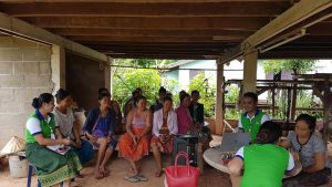 Conduct training financial education to the clients at Phonengam Village