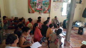 EMI Conducted training Financial Education to the clients at Sivilay Village
