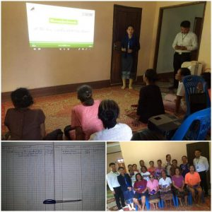 EMI Conduct training financial education to the clients at Thoulakhom District, Vientiane Province.