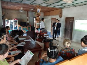 EMI Conduct training financial education to the clients at Viengchaleun Village, Phieng District, Xayaboury Province