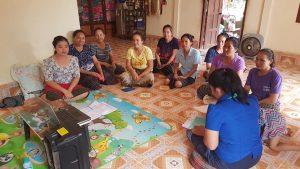 EMI Conduct training financial education to the clients at Nanga Village, Naxaythong District, Vientiane Capital.