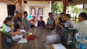 EMI Conduct training financial education to the clients at Nongkhaen Village, Parknguem District