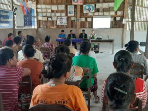 EMI Conduct training financial education to the clients at Phonesavang Village, Phieng District, Xayaboury Province