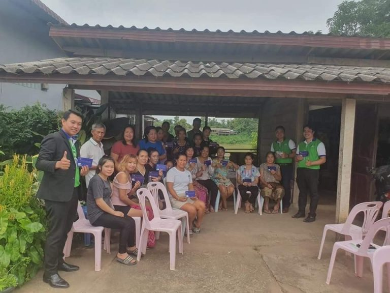 EMI Conduct training financial education to the clients at Parkkayoung Village, Viengkham District, Vientiane Province