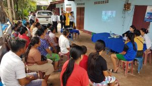 EMI Conduct training financial education to the clients at Nongkhone village, Phonehong District, Vientiane Province.