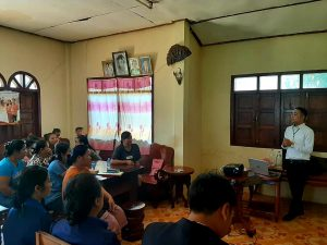 EMI Conduct training financial education to the clients at Somsavanh Village