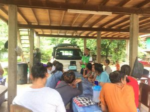 EMI Conduct training financial education to the clients at Sisavath Village, Naxaythong District, Vientiane Capital