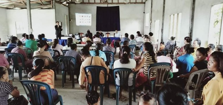 EMI Conduct training financial education to the clients at Phonehin Village, Phieng District, Xayaboury Province to support them to understand financial, accounting basic and budgeting for the future.
