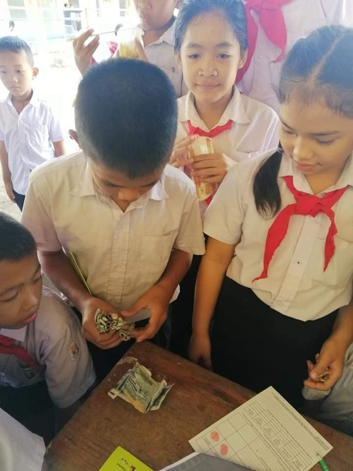 Saving and opening new account activity of the students to day.