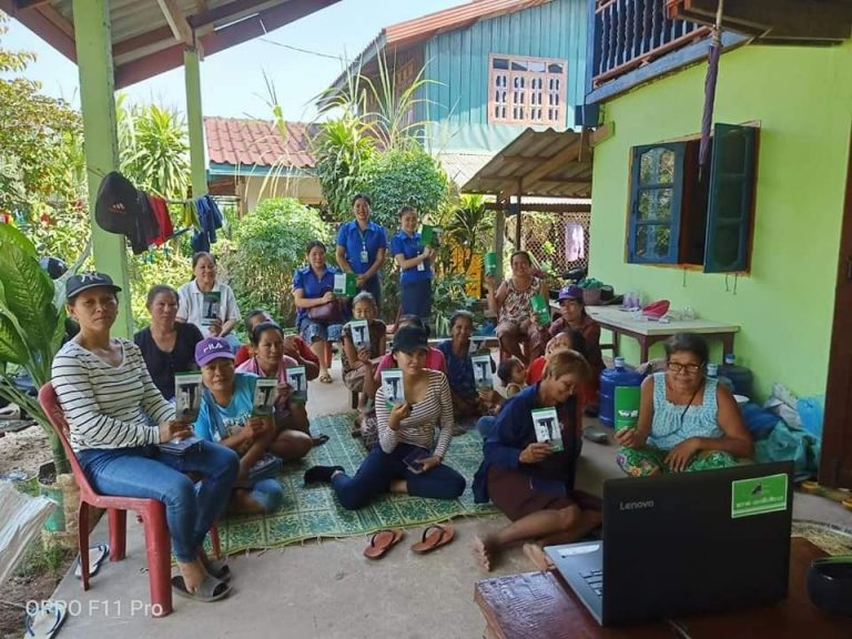 Conduct training financial education to the clients at Nayang Village, Naxaythong District, Vientiane Capital