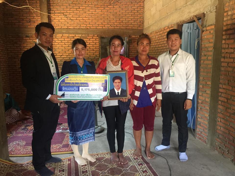 EMI give money claim of loan insurance amount 5,175,000 Kip who pass away Mr. Chanhome SOUTHAMMAVONG