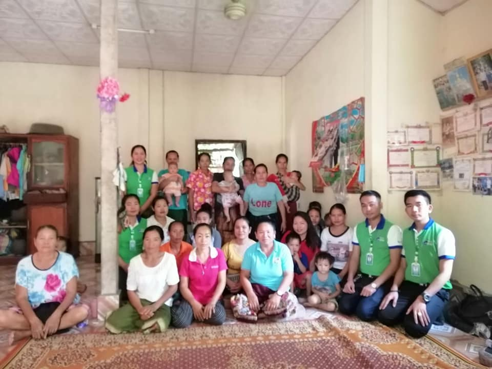 EMI Conduct training financial education to the clients at Sivilay Village, Naxaythong District, Vientiane Capital