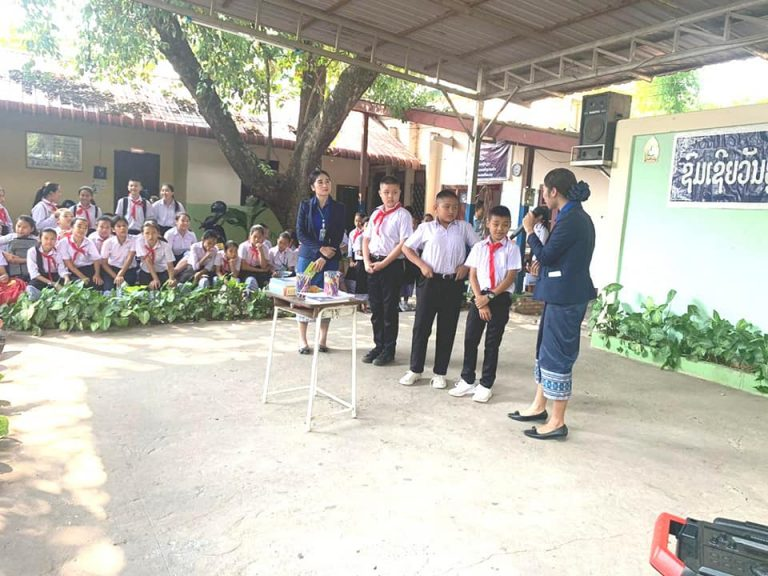EMI Saving Mobilization Department continues conducted activity at Sisathtanak Secondary School to support Financial Education to the students.