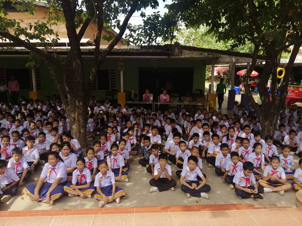 EMI Saving Mobilization Department Conducted activity under the topic of Financial Education at Homsavanh Secondary School to support the students to understand more about finance during their studying.